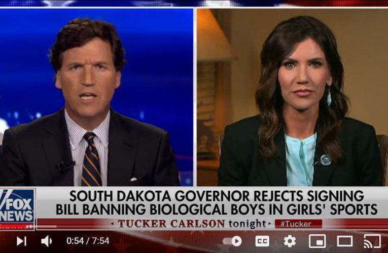 Tucker vs Noem on Transgender Veto