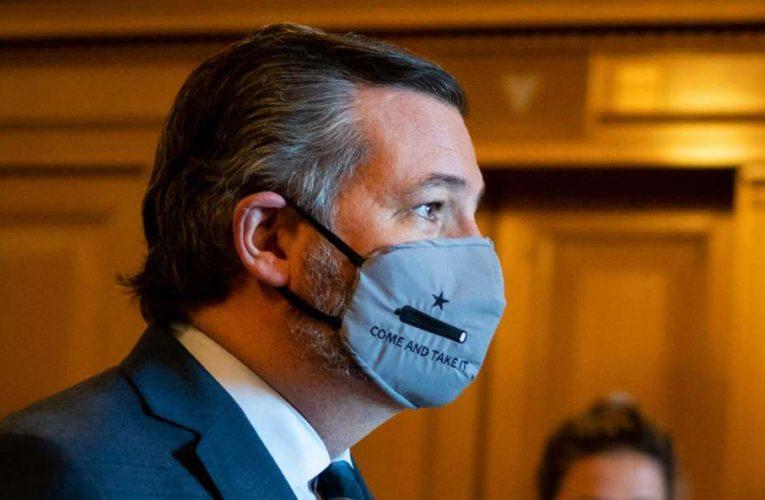 Fully Vaccinated Sen. Cruz will no longer wear mask at Capitol.  Liberals Freak.