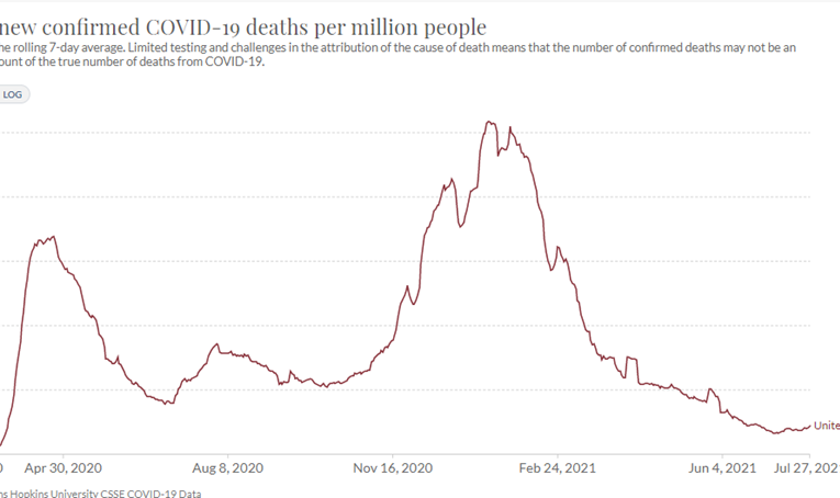 Despite 'Delta' Alarmism, US COVID Deaths Are at Lowest Level Since March 2020, Harvard and Stanford Professors Explain