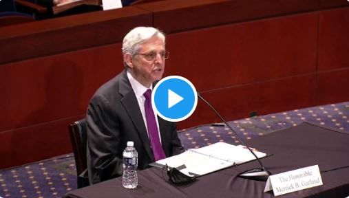 """Vid- Biden AG Merrick Garland admits targeting parents for """"possible domestic terrorism"""" because the NSBA sent a letter"""